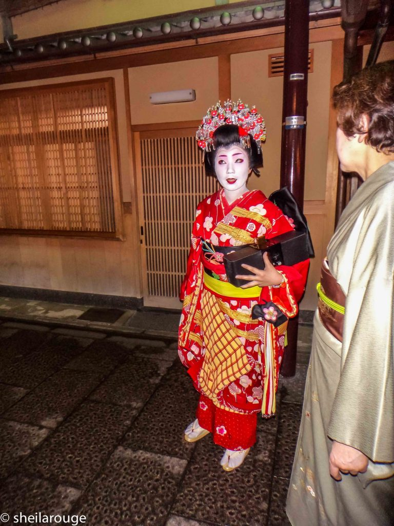 The Geisha in front of us